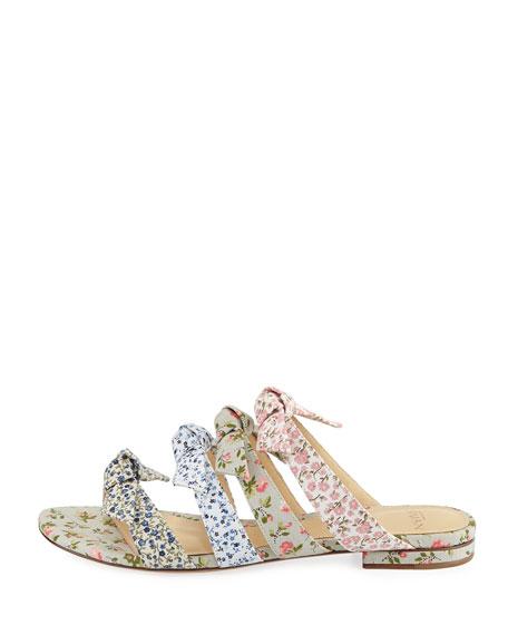 Julyta Floral-Print Strappy Flat Slide Sandal
