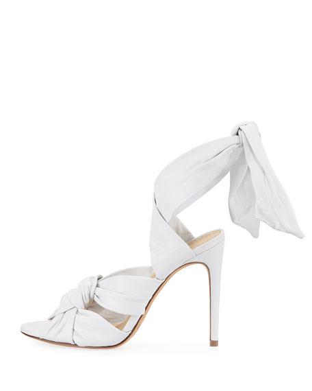 Maleah Leather Ankle-Tie Sandal