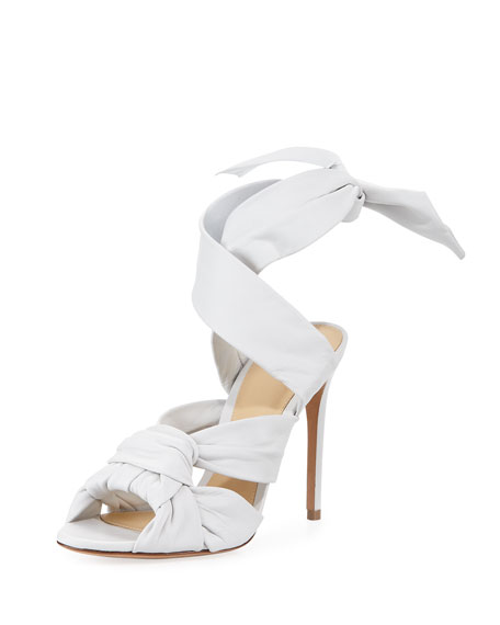 Maleah Leather Ankle-Tie Sandal