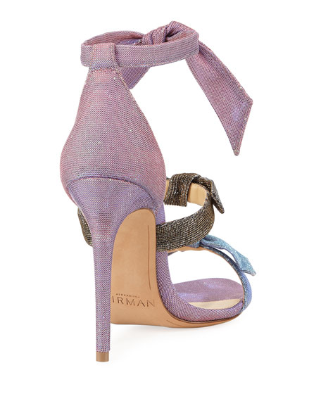 Lolita Metallic Three-Strap Sandal