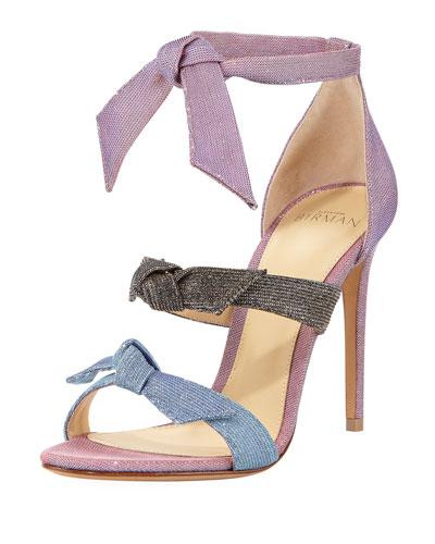 Lolita Metallic Three-Strap Sandal