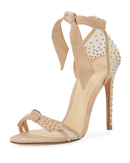 331c145f56be9 Alexandre Birman Clarita Crystal-Studded Suede Sandal