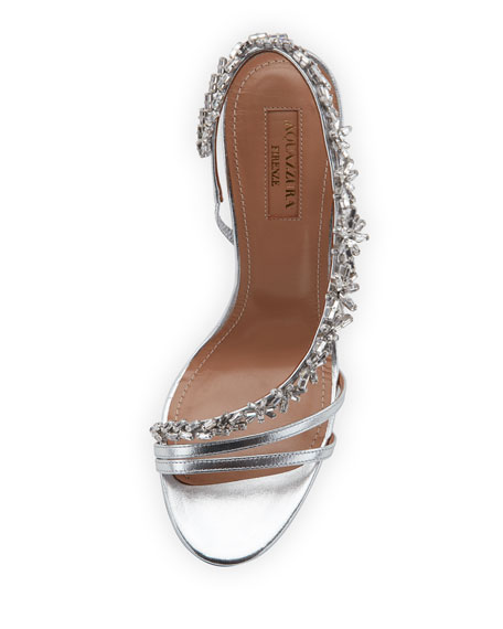 Chateau Asymmetric Crystal Slingback Sandal