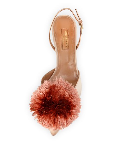 Powder Puff Satin Slingback 45mm Pump