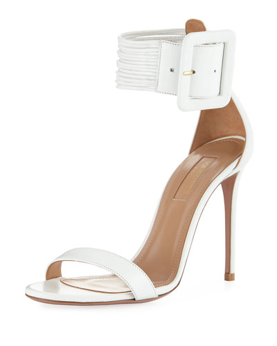 Casa Blanca Lamb Leather Ankle-Cuff Sandal