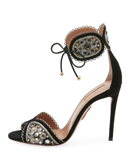 Jaipur Beaded Ankle-Tie Sandal