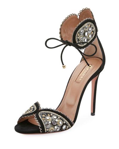 Jaipur Beaded Ankle-Tie Sandal