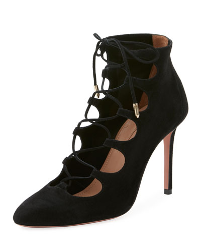 Flirt Cutout Lace-Up Bootie