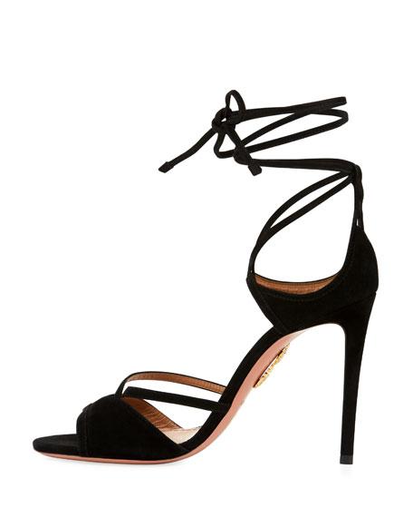 Nathalie Suede Ankle-Tie Sandal
