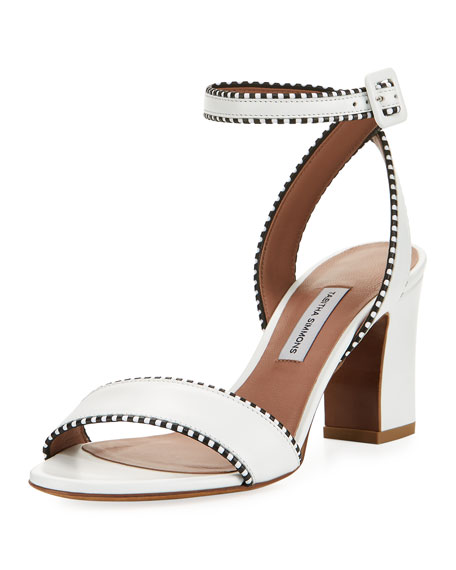 Leticia Leather Ankle-Wrap Sandal