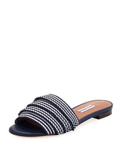 Sprinkles Pleated Grosgrain Slide Sandal