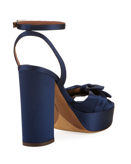 Jodie Satin Ankle-Strap Sandal