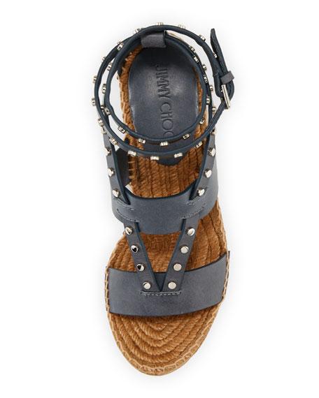Danica Studded Wedge Espadrille Sandal