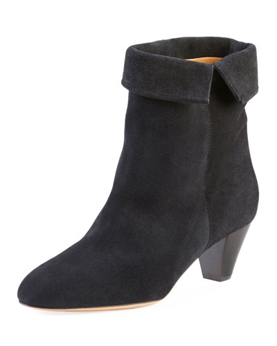 Dyna Cuffed Suede Ankle Boot