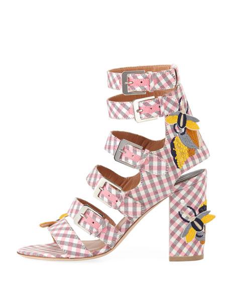 Dana Gingham Multi-Strap Sandal