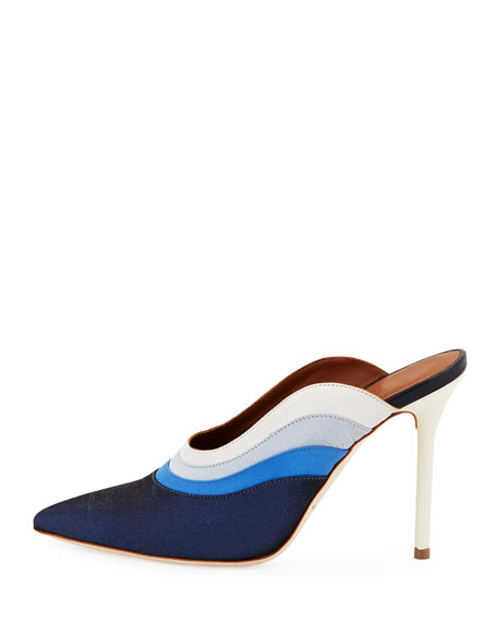 Amber Colorblock Satin Mule Pump