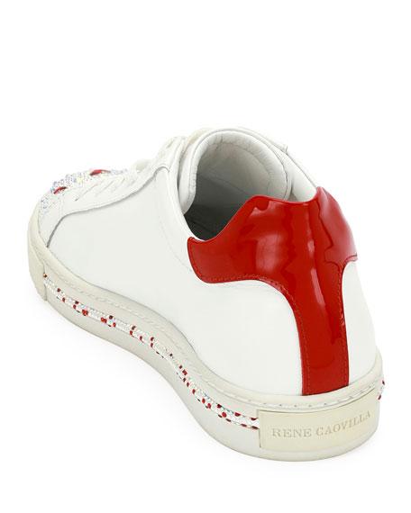 Crystal Heart-Embellished Low-Top Sneaker