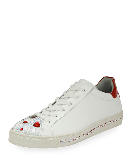 sast sale online René Caovilla Crystal-Embellished Low-Top Sneakers discount nicekicks newest for sale mfNOwcUiSS