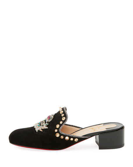 Evening Sun Spiked Red Sole Mule