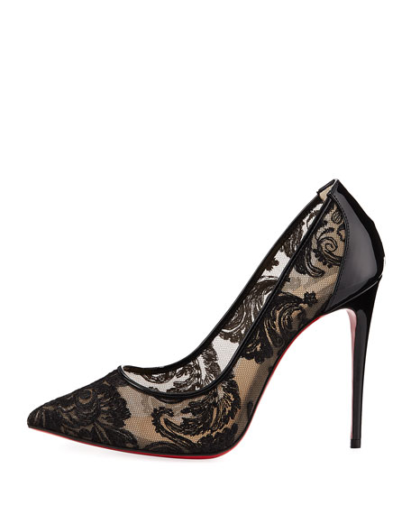 Follies Lace Red Sole Pump