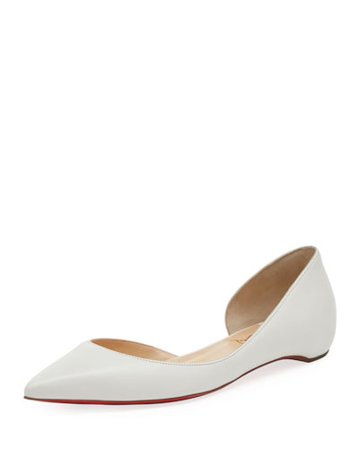 Iriza Half-d'Orsay Red Sole Flat