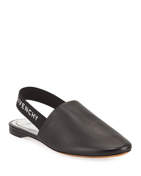 Rivington Leather Slingback Flats - Black Size 8.5