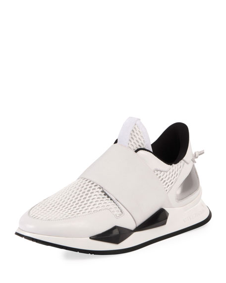 Stretch-Mesh Slip-On Runner Sneakers