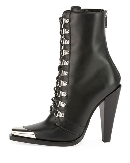 Calamity Lace-Up Cap-Toe Boot