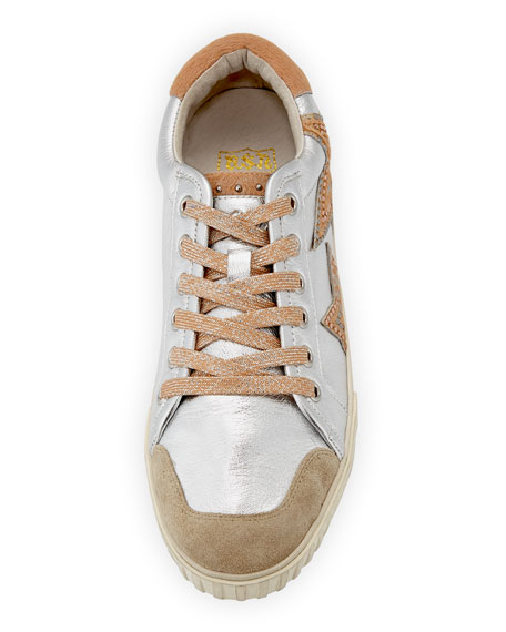 Mixed Leather Stars Sneaker