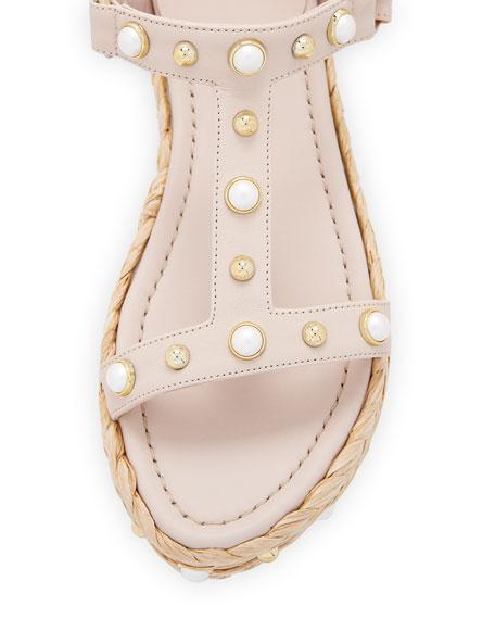 Beraffia Pearly Vachetta Platform Sandal
