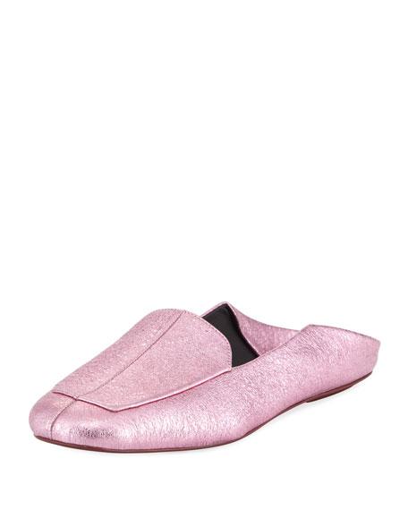 Cecil Crinkled Metallic Slide Loafer