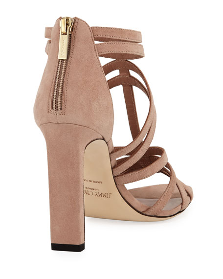 Selina Strappy Suede Sandal