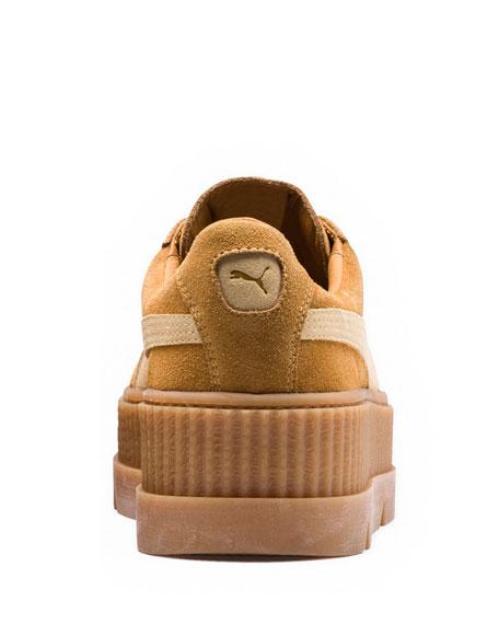 Low-Top Suede Creeper Sneaker