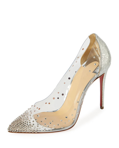Christian Louboutin Degrastrass Vinyl 100mm Red Sole Pump