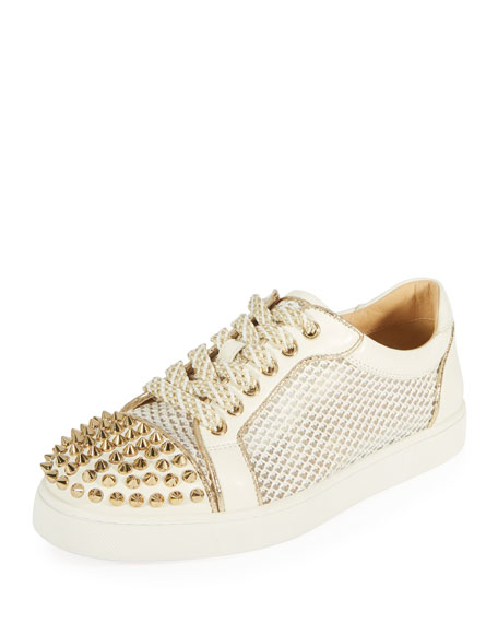 Christian Louboutin AC Viera Spikes Red Sole Low-Top