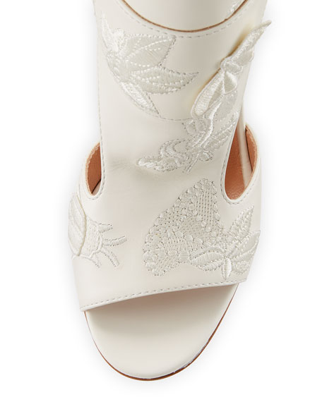 Rush Embroidered Leather Sandal