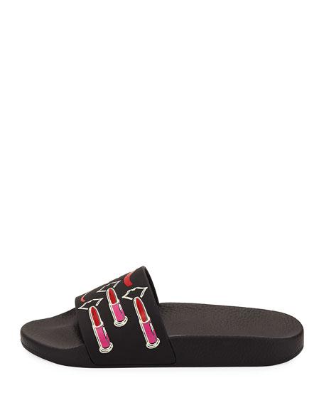 Lipstick Pool Slide Sandal