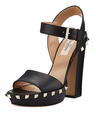 Rockstud Platform Sandal