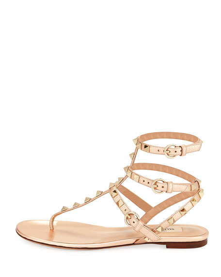 Rockstud Leather Thong Sandal