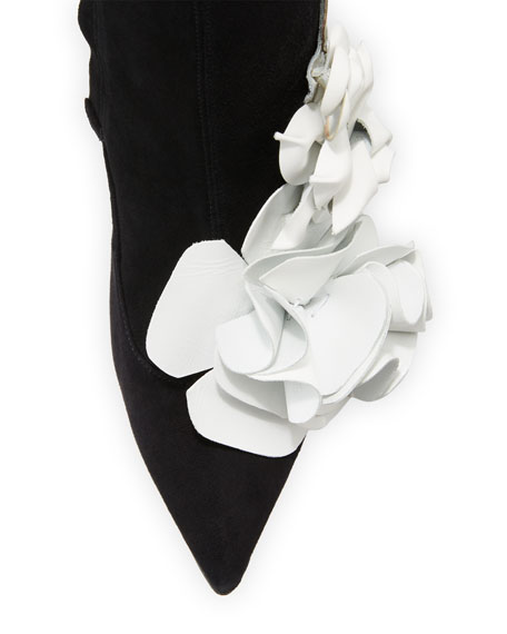 Lilico Suede Ankle Boot with 3D Flower