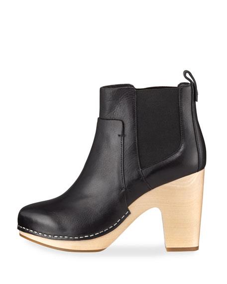 Camila Wooden-Heel Chelsea Boot
