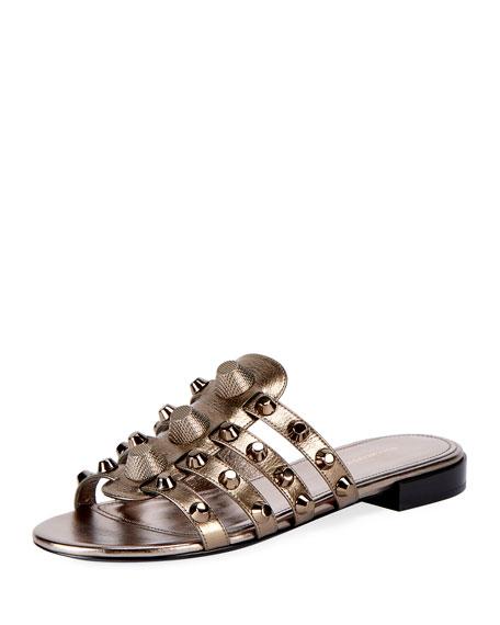 Classic Flat Studded Slide Sandal