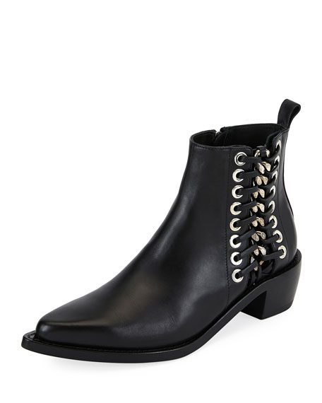 chain and eyelet detail Chelsea boots