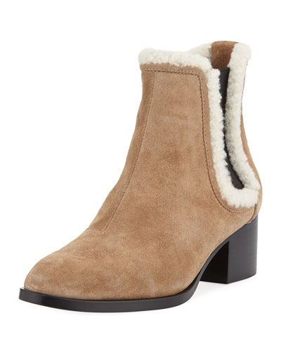 Walker Fur-Trim Suede Boot