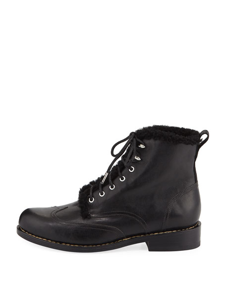 Cozen Fur-Trim Leather Boot