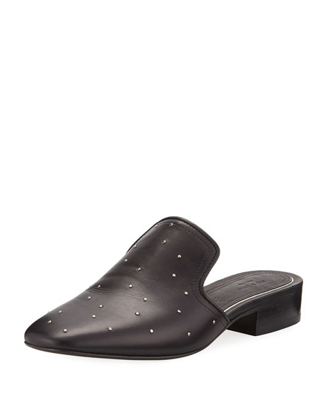 Luis Studded Leather Mule Slides