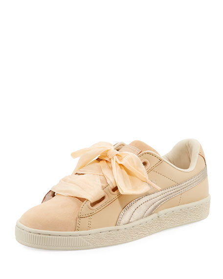 Basket Heart Up Mixed Sneaker, Beige