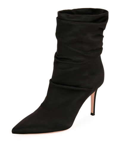 Slouchy Satin 85mm Boot