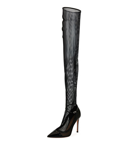 Mesh Over-the-Knee Sock Pump