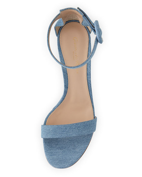 Portofino Denim Wedge 85mm Sandal